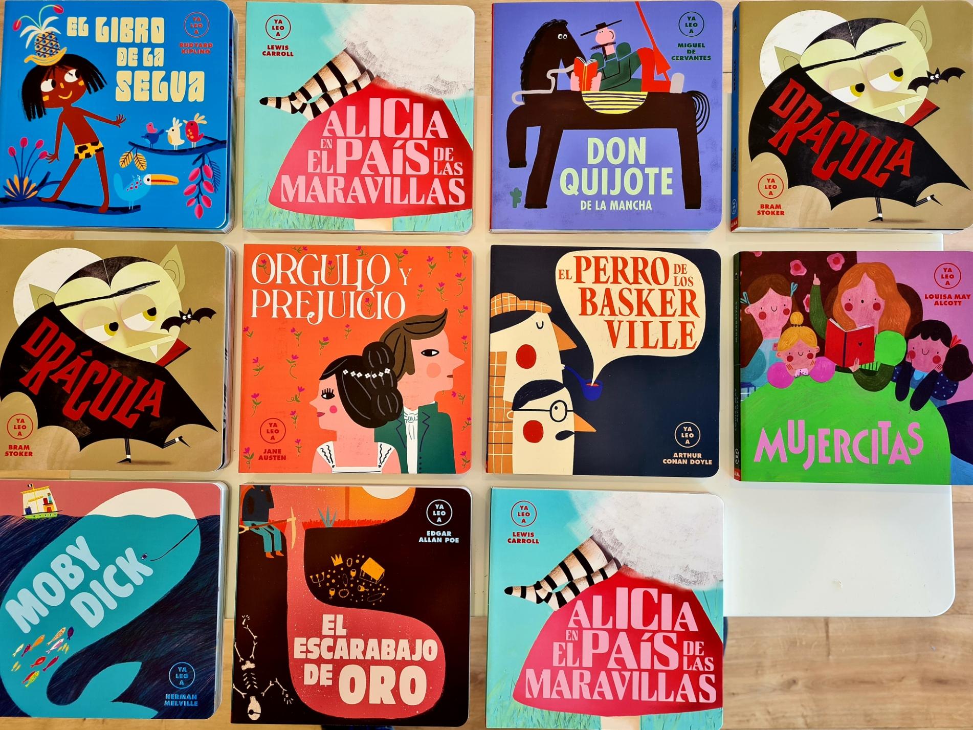foto de todos los libros de la colección