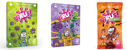 imagen de los distintos juegos llamados Virus
